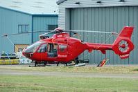 G-GOWF @ EGBJ - 2009 Eurocopter Deutschland Gmbh EC135 T2+, c/n: 0785 at Staverton