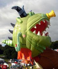 G-MSTR - 2001 Cameron Balloons Ltd CAMERON MONSTER-110, c/n: 4957 tethered at 2010 Bristol Balloon Fiesta