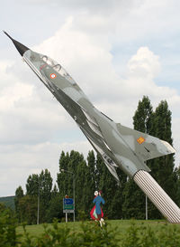 243 - S/n 243 - Dassault Mirage 3B-RV preserved on a roundabout at the entrance of this town... - by Shunn311