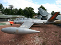 2 - S/n 2 - French Navy Fouga Zephyr preserved inside Savigny-les-Beaune Museum... - by Shunn311