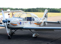 F-PAKT @ LFSH - Parked in front of the hangar with many promoting stickers... - by Shunn311