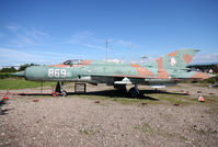 869 - S/n 94A4503 - West Germany Air Force MiG-21SPS preserved at the Hatten Museum... - by Shunn311