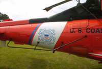 6526 - Tailboom detail and USCG logo as viewed from starboard - by George A.Arana