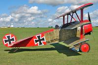 G-BVGZ @ EGBK - Bellamy Vh REPLICA FOKKER DR1, c/n: PFA 238-12654 wears Serial DR.1 152/17 at 2010 Sywell Airshow