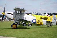 G-BURZ @ EGBK - 1934 Hawker Aircraft Ltd HAWKER NIMROD MKII, c/n: 41H-59890 wearing Serial K3661/562 at 2010 Sywell Airshow