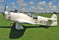 G-AEXF @ EGBK - 1936 Percival Aircraft Co Ltd PERCIVAL MEW GULL, c/n: E22 at the 2010 Sywell Airshow