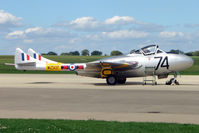 G-VTII @ EGBK - 1954 De Havilland DH115 VAMPIRE T11, c/n: 15127 at 2010 Sywell Airshow