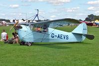 G-AEVS @ EGBK - 1937 Aeronautical Corporation Of Gb Ltd AERONCA 100, c/n: AB114 at 2010 Sywell Air Show