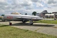 401 @ LHKE - MiG-17PF - by Volker Hilpert
