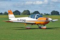 D-EGHW @ EGBK - 1984 Bölkow Bo 209 Monsun 150FV, c/n: 170 - visitor to the 2010 Sywell Airshow