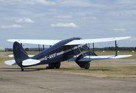 G-AKIF @ EGSU - DeHavilland D.H.89A Dragon Rapide at Duxford airfield - by Ingo Warnecke