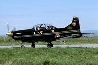 666 @ LBPG - Brand new trainer used as a light attack aircraft during Co-operative Key 2005 - by Joop de Groot