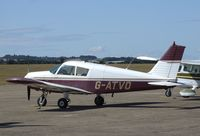 G-ATVO @ EGSU - Piper PA-28-140  Cherokee 140 at Duxford airfield
