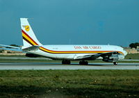 5X-DAR @ LMML - B707 5X-DAR of DAS Air Cargo in Malta - by raymond