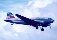 G-AMRA @ LMML - DC3 G-AMRA of Eastern Airways landing for a night stop in Malta on 11Oct1978 - by raymond