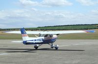 G-PHUN @ EGSU - Reims Cessna FRA150L at Duxford airfield