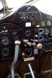 SE-AWS @ ESSF - View into the cockpit of the Fairchild 24W-41 which has been restored into its original state. - by Henk van Capelle