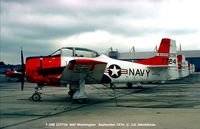 137724 @ ADW - T-28B flying proficiency aircraft , 1974. - by J.G. Handelman
