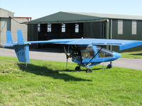 G-MYIF @ EGFH - Visiting Shadow microlight 'Baby Blue'. - by Roger Winser