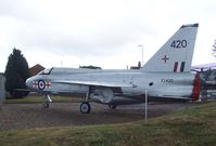 XS420 - English Electric (BAC) Lightning T5 at the Farnborough Air Science Trust