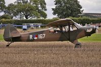 G-LION - 1954 Piper PIPER L21B (MODIFIED), c/n: 18-3857 Serialled R167 at Abbots Bromley Fly-In