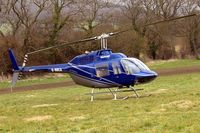 G-BBCA @ EGBC - Bell 206B-2 Jet Ranger II [1101] Cheltenham Racecourse~G 14/03/2008.