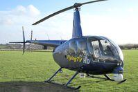 G-PIXL @ X5FB - Robinson R44 Raven ll at Fishburn Airfield in November 2009. - by Malcolm Clarke
