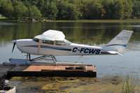 C-FCWS @ CNJ4 - Lake Country Airways Cessna 172 on floats - by Duncan Kirk