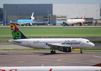 5A-ONC @ EHAM - Airbus A.319-111 c/n:3615 AFRIQIYAH AIRWAYS - by Noel Kearney