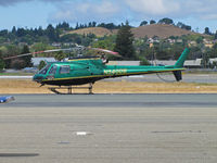 N540DB @ KCCR - 1999 Eurocopter AS 350 B2, c/n: 3218 on hotel visitor's ramp - by Steve Nation
