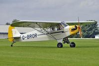 G-BROR @ EGBK - 1943 Piper PIPER J3C-65, c/n: 10885 at 2010 LAA National Rally