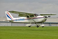 G-ARWS @ EGBK - 1962 Cessna CESSNA 175C, c/n: 175-57102 at 2010 LAA National Rally