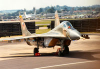 7501 @ EGVA - MiG-29 Fulcrum A of 11th Fighter Regiment Czech Air Force on the flight-line at the 1991 Intnl Air Tattoo at RAF Fairford. - by Peter Nicholson
