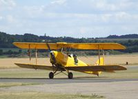 G-ANRM @ EGSU - DeHavilland (Morris) D.H.82A Tiger Moth at Duxford airfield