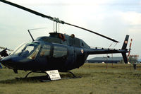 136236 @ EGVI - CH-136 Kiowa of 444 Squadron Canadian Armed Forces based at Lahr on display at the 1976 Intnl Air Tattoo at RAF Greenham Common. - by Peter Nicholson