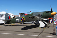 N13HP @ KRTS - Race #13 1953 Hawker Sea Fury Unlimited Class @ Reno Air Races - by Steve Nation