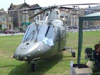 H28 - Agusta A.109BA of the Belgian air force at the 2010 Helidays on the Weston-super-Mare seafront