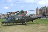 H23 - Agusta A.109BA of the Belgian air force at the 2010 Helidays on the Weston-super-Mare