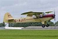 G-AJIT @ EGBK - 1946 Kingsland Aviation Ltd AUSTER KINGSLAND, c/n: 2337 at 2010 LAA National Rally