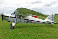G-AKVO @ EGBK - 1946 Taylorcraft Aviation Corporation TAYLORCRAFT BC12D, c/n: 9845 at 2010 LAA National Rally