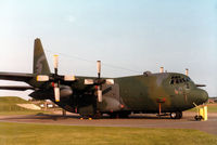 74-1676 @ MHZ - Another view of the Dyess AFB C-130H Hercules of 463rd Military Airlift Wing on display at the 1984 RAF Mildenhall Air Fete. - by Peter Nicholson