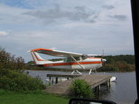 C-FUFE - Pic of Plane  at dock on lake - by Donald Wick