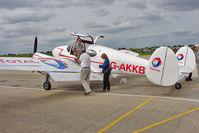 G-AKKB @ EGBK - 1947 Miles Aircraft Ltd MILES M65 GEMINI 1A, c/n: 6537 at 2010 LAA National Rally