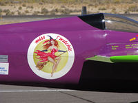 C-FDXO @ KRTS - Close-up of Miss t'witchie fuselage art on Formula I Class Race #9 @ 2009 Reno Air Races - by Steve Nation