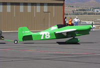 C-FNZP @ KRTS - Race #78 is a 1970 Cassutt being towed after mid-morning Formula I Class heat @ 2009 Reno Air Races - by Steve Nation