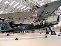 VP546 @ EGWC - Fieseler Fi.156 C-7 Storch, preserved at the RAF Museum, Cosford - by Chris Hall