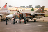 2425 @ EGVA - MiG-23ML Flogger of 41 SLT Czech Air Force on the flight-line at the 1997 Intnl Air Tattoo at RAF Fairford. - by Peter Nicholson