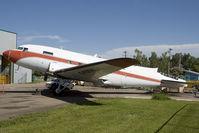 C-FDTH @ CYQF - DC-3 - by Andy Graf-VAP