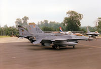 91-0373 @ EGVA - F-16C Falcon, callsign Trend 64, of 79th Fighter Squadron/20th Fighter Wing based at Shaw AFB on the flight-line at the 1997 Intnl Air Ttatoo at RAF Fairford. - by Peter Nicholson