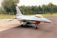 275 @ EGVA - F-16A Falcon, callsign Norwegian 5087 Bravo, of 332 Skv Royal Norwegian Air Force on the flight-line at the 1997 Intnl Air Tattoo at RAF Fairford. - by Peter Nicholson